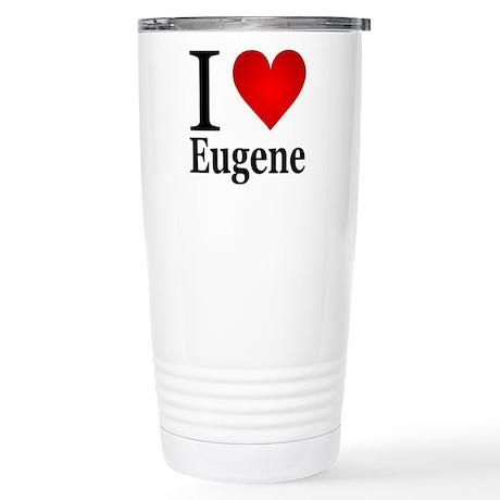 I Love Eugene Stainless Steel Travel Mug