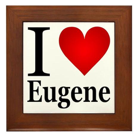 I Love Eugene Framed Tile