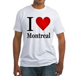 I Love Montreal Fitted T-Shirt