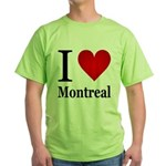 I Love Montreal Green T-Shirt