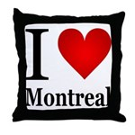 I Love Montreal Throw Pillow