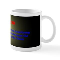 Mug: Apollo 11 landed, and Neil Armstrong and Edwi