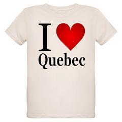 I Love Quebec Organic Kids T-Shirt