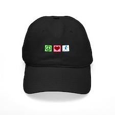 Peace Love Run Baseball Hat