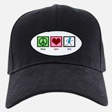 Peace Love Run Baseball Hat