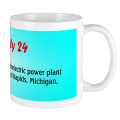 Mug: First commercial hydroelectric power plant be