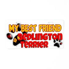 Bedlington Terrier Aluminum License Plate