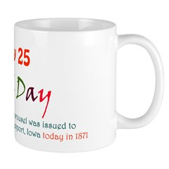 Mug: Carousel Day The first U.S. patent for a caro