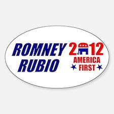 MITT ROMNEY MARK RUBIO 2012 P Sticker (Oval)