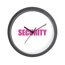 Security Wall Clock