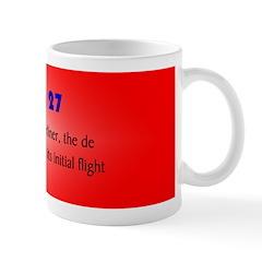 Mug: First jet-powered airliner, the de Havilland