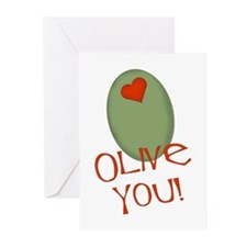 Olive You! Greeting Cards (Pk of 20)