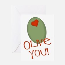Olive You! Greeting Card