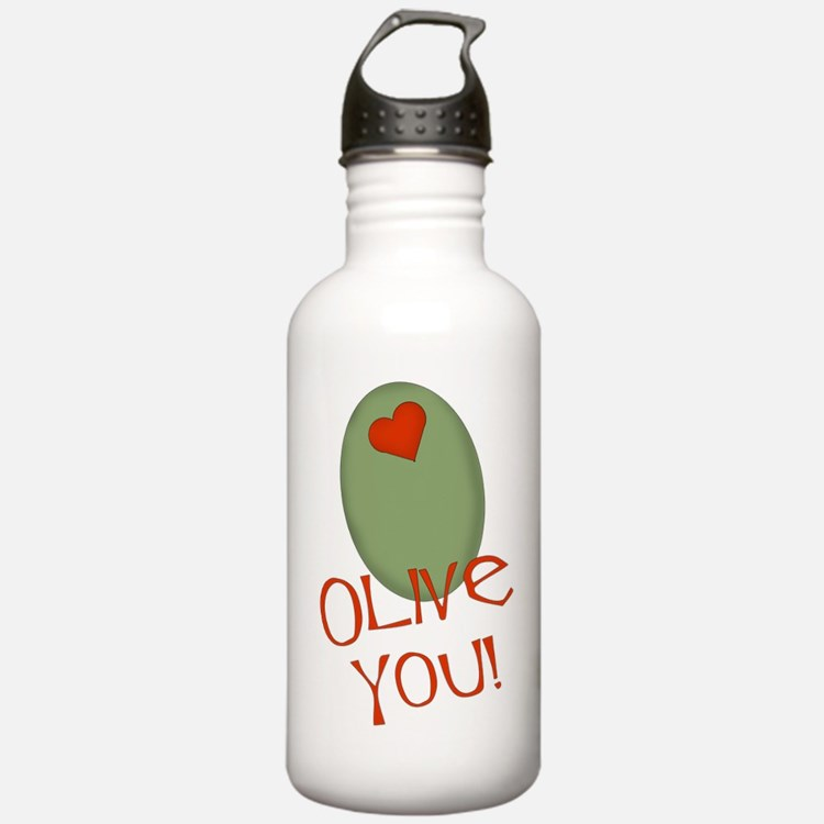 Olive You! Water Bottle