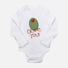 Olive You! Long Sleeve Infant Bodysuit