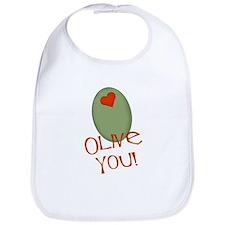 Olive You! Bib
