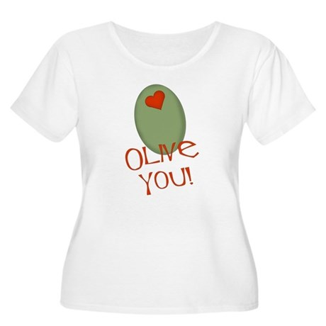 Olive You! Women's Plus Size Scoop Neck T-Shirt