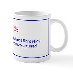 Mug: First transcontinental airmail flight relay f