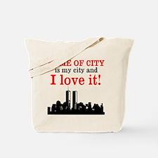 Customizable I Love My City Tote Bag