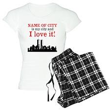 Customizable I Love My City Pajamas