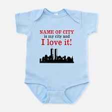 Customizable I Love My City Infant Bodysuit