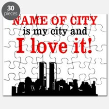 Customizable I Love My City Puzzle