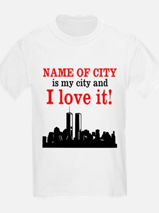 Customizable I Love My City T-Shirt