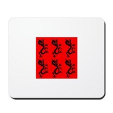 Black Dragons on Red. Mousepad