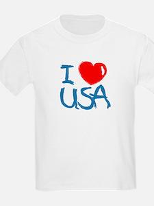 I Love America Kids T-Shirt