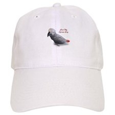 African Grey Parrot Gifts Baseball Cap