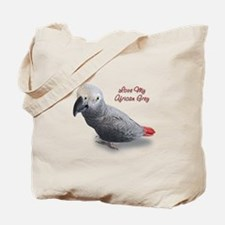 African Grey Parrot Gifts Tote Bag