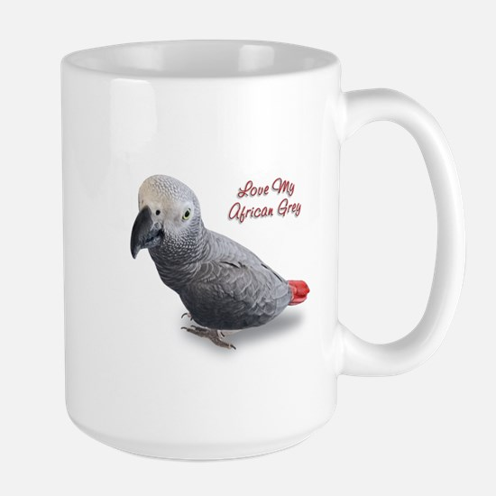 African Grey Parrot Gifts Large Mug