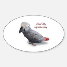 African Grey Parrot Gifts Decal