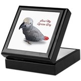 African grey parrot Keepsake Boxes
