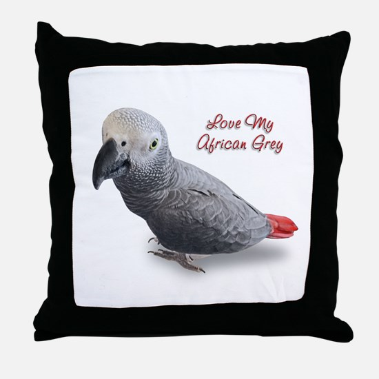 African Grey Parrot Gifts Throw Pillow