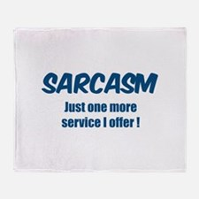 Sarcasm Throw Blanket
