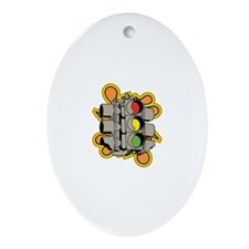 Traffic Light. Ornament (Oval)