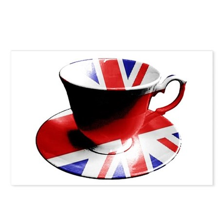 British cup of tea Postcards (Package of 8)