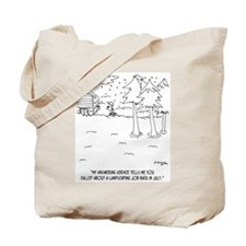 Landscaping in the Snow Tote Bag