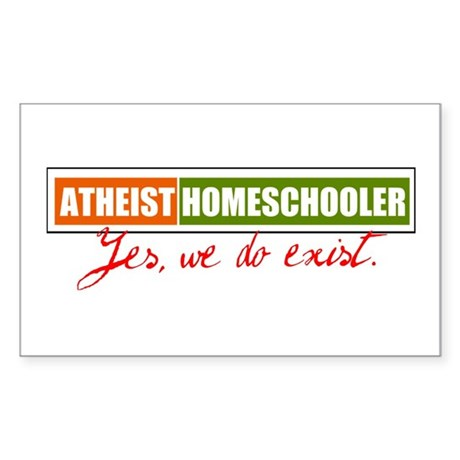 Atheist Homeschooler Sticker (Rectangle)