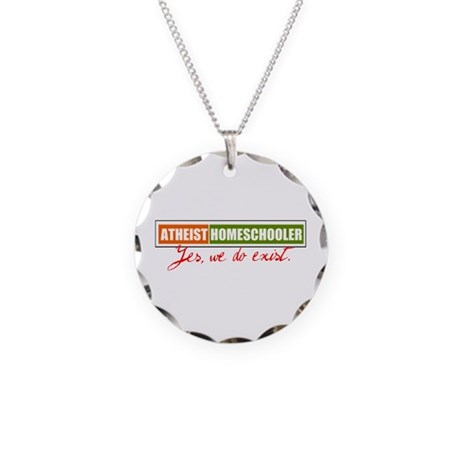 Atheist Homeschooler Necklace Circle Charm