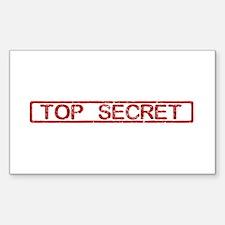 Top Secret Sticker (Rectangle)