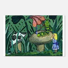 Alice In wonderland Painting Postcards (Package of