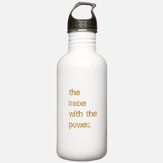 Babe with Power (Gold) Water Bottle