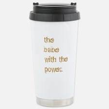 Babe with Power (Gold) Travel Mug