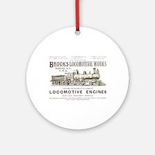 Brooks Locomotive Works Ornament (Round)