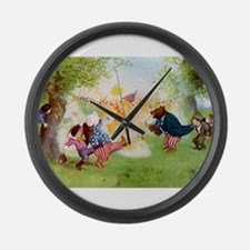 Roosevelt Bears Firecrackers Large Wall Clock