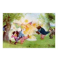 Roosevelt Bears Firecrackers Postcards (Package of