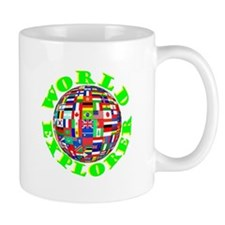 WORLD, FLAGS,TRAVEL,EXPLORE Small Mug