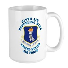 319th Air Refueling Wing with Text Mug